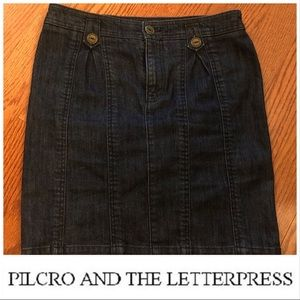 Pilcro and the Letterpress Pencil Denim Skirt